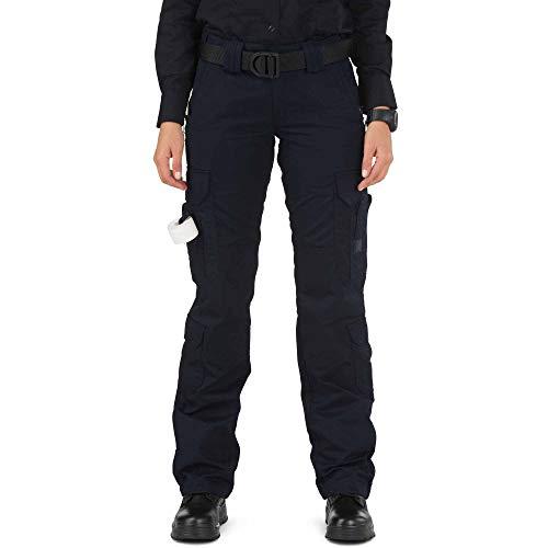 5.11 Tactical Women's Taclite Lightweight EMS Pants, Adjustable Waistband, Teflon Finish, Style 64369, Dark Navy, 14