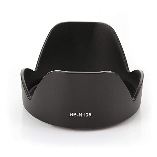 CELLONIC® Parasol HB-N106 Compatible con Objetivo Nikon AF-P DX Nikkor 18-55 mm 1:3.5-5.6G VR, Nikkor 10-100mm f/4-5.6 VR Capilla Cámara, Cubierta del Objetivo, Visera Parasoles