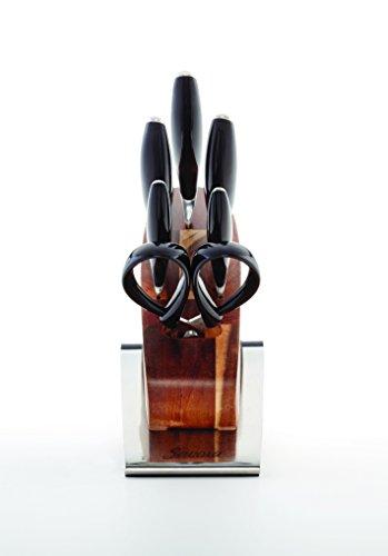 Savora 14 Piece German Steel Knife Block Set, Black
