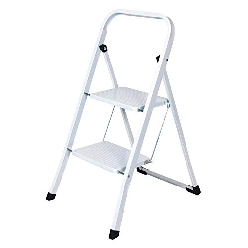 Stahl Haushaltsleiter 2 Stufen Leiter Auswahl Klapptritt Stehleiter Trittleiter Klapptleiter Klappbar Weiß