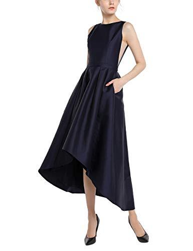 APART Kleid, Abendkleid, Cocktailkleid, elegant, vorn kürzer geschnitten, Nachtblau, 42