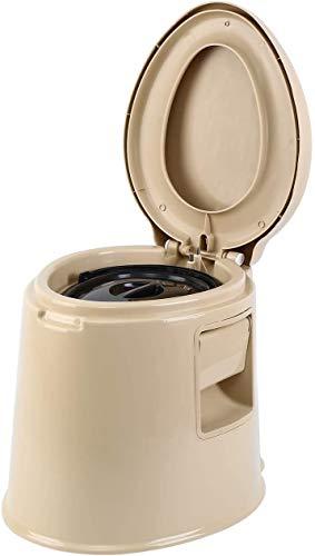 MuGuang Camping Wc Sedia da viaggio Viaggio toilette portatile antiscivolo con secchio interno cavo per viaggi, campeggio, escursionismo, picnic, ospedale, all'aperto