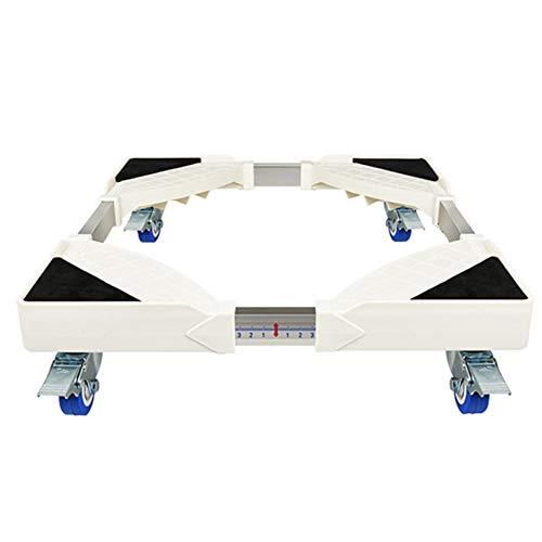 OMLTER Mobile Machine Laver Augmenter Stent Base avec 4 Roues Frein, Télescopique Réfrigérateur Pieds Support, Machine Laver Socle Universel, Utilisé dans Les Machines Laver, Sèche Linge, Etc