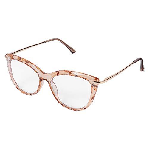 KESYOO 1 par de Gafas de Moda Gafas de Lectura/Gafas para Mujer Moda Lente Transparente para Mujeres Hombres-Oro Rosa