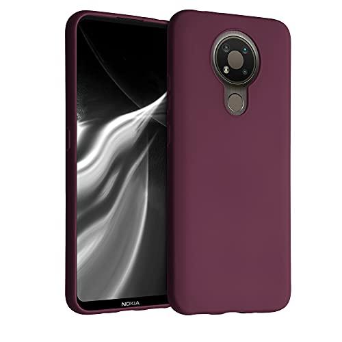 kwmobile Hülle kompatibel mit Nokia 3.4 - Hülle Handyhülle - Handy Hülle in Bordeaux Violett
