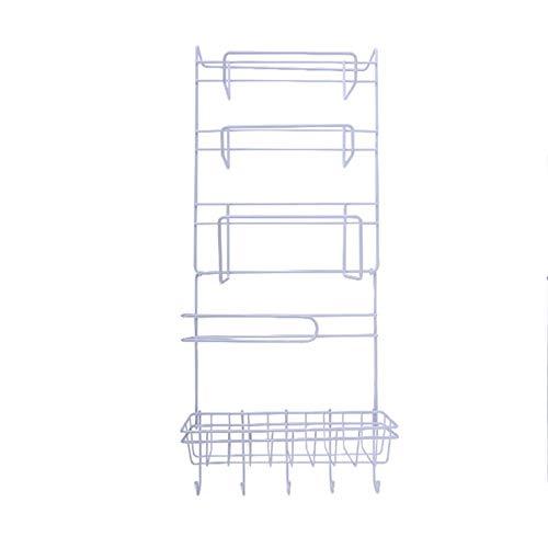 BlackUdragon Estante lateral para refrigerador, soporte para pared lateral, multifuncional, organizador de suministros de cocina para el hogar de varias capas de almacenamiento para nevera