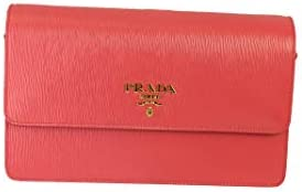 Prada Peonia Pink Vitello Move Leather Crossbody Wallet Handbag 1BP016 product image