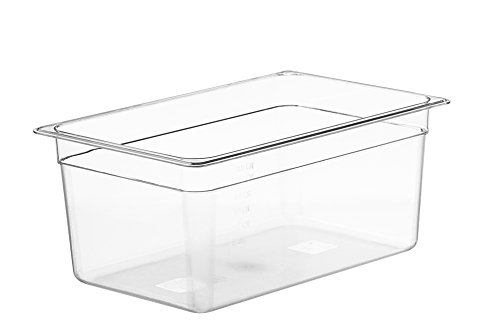 LIPAVI Contenedor C15 Sous Vide de 18 cuartos no incluidos: estante L15 y tapa para prácticamente cada circulador de inmersión se vende por separado, transparente y policarbonato transparente.