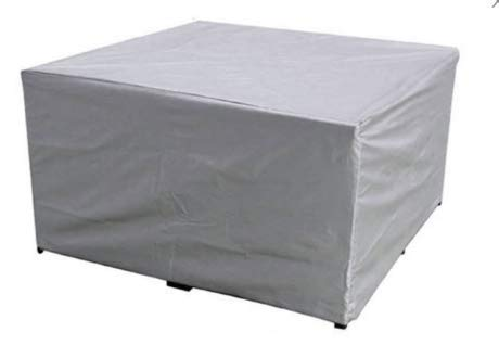 Cubierta protectora Protege la cubierta de muebles de tela Oxford impermeable y resistente al viento Cubierta de polvo de varios tamaños para interiores y exteriores Plata