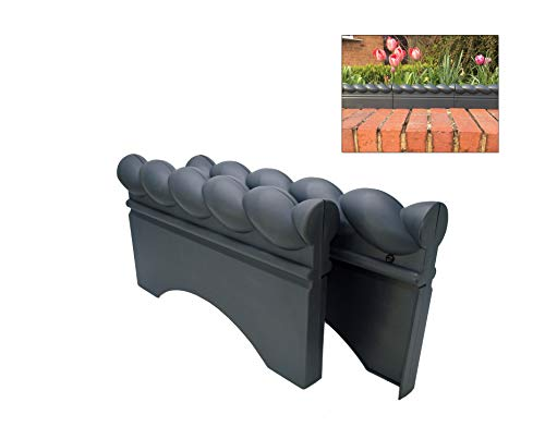 Linic Blue Brick Grey Colour Full Rope Top Plastic Garden Border/Lawn Edging. UK Made. (X8172) Free UK Postage. (10)