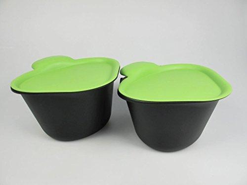 TUPPERWARE Küchenhelfer Tischmüll Adretto 2,5 L schwarz-grün (2) Alles in Reinen