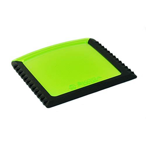 Eiskratzer für Tankklappe Schaber Kratzer mit Lupenfunktion 5E0867575A Farbe: grün passgenau für Modelle ab 2012 Abmessungen: 97 mm x 97 mm