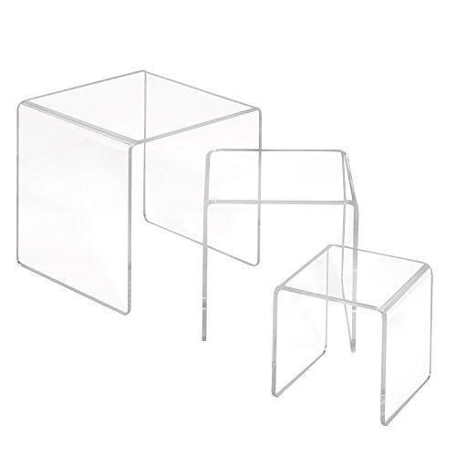 3er Set Dekobrücken aus Acrylglas/Dekopodest/U-Ständer/U-Aufsteller/Dekowinkel/Acryl