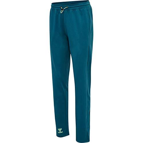 HUMMEL ACTION COTTON PANTS WOMAN Sweatpants, Blue Coral/Green ASH, XL