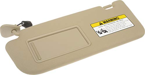 Dorman 74212 Drivers Side Sun Visor Assembly for Select Hyundai Models, Beige