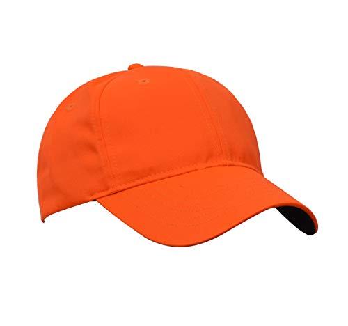 Tirrinia Blaze Orange Hunting Neon Basics Cap Low Profile Tangerine Safety Baseball Hat with Adjustable Closure
