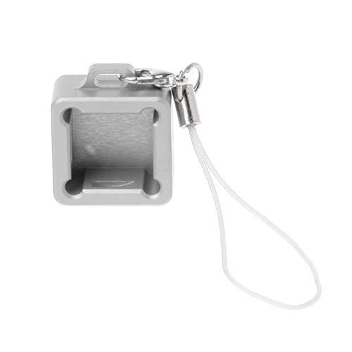 YEZIN Capas de Llave para el Teclado 1pc Keyboard Base Cube Azúcar anodizado Aluminio Base del probador de abrelatas para el Teclado mecánico (Color : Silver)