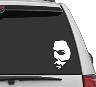 """Vog Trends VT- Michael Myers Creepy Half Face 6"""" Vinyl Decals Scary Horror Movies Creepy Halloween Stickers for Cars, Lapt..."""