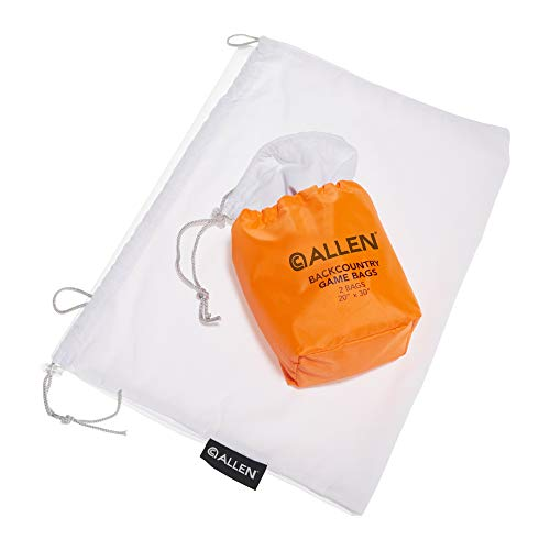 Allen Backcountry Quarter Bags / Meat Bags for Hunting - 4-Pack, Heavy Duty, Reusable, Drawstring, 2-Sizes, 20 x 30