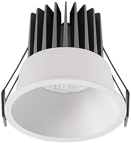 PJDOOJAE Luz de techo de inclinación de abajo DIRIGIÓ Empotrado 7W / 12W Downlights super brillante proyectores de panel Diámetro recortado 70-75mm80mm AC 110V -220V LED Downlights para la iluminación