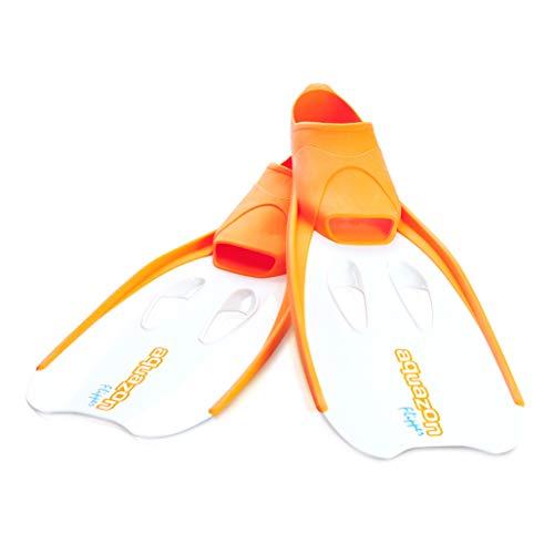 Aquazon Flossen, Schnorchelflossen, Schwimmflossen, Tauchflossen Flipper Für Kinder, Jugendliche Und Damen 38-39 Orange