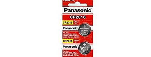 Panasonic CR2016 Lithium-Knopfzellen / Batterie, 3V, Blisterverpackung, 1 Doppelpack (2 Stück)
