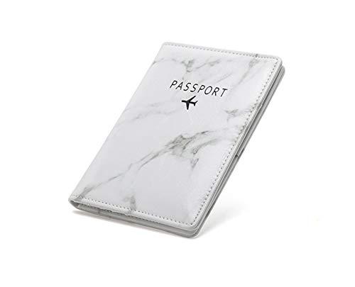 xiaoxioaguo Tarjetero de viaje de mármol blanco rfid pasaporte titular de la tarjeta de la cartera de las señoras de los hombres de negocios portátil de cuero de la