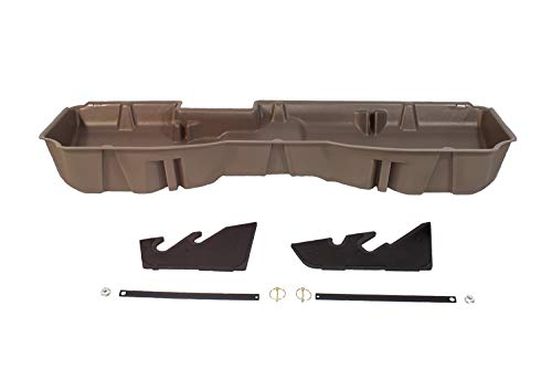 DU-HA Under Seat Storage Fits 14-18 Chevrolet/GMC Silverado & Sierra Light Duty Crew Cab and 15-18 Heavy Duty Crew Cab Part#10302 - TAN