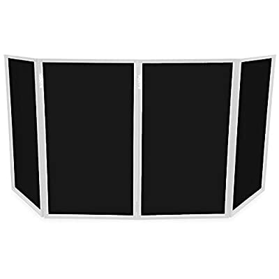 VONYX DB2 Black DJ Lighting Screen Lycra 4 Panel Replacement Set for Mobile Disco Deck Stand Booth