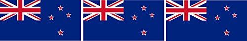 Etaia 2,5x5 cm - 3 x Mini Auto Aufkleber Fahne/Flagge von Neuseeland New Zealand Sticker Motorrad Fahrrad Bike Biker