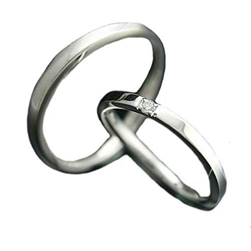 [ココカル]cococaru ペアリング シルバー リング2本セット ダイヤモンド マリッジリング 結婚指輪 日本製(レディースサイズ1号 メンズサイズ15号)