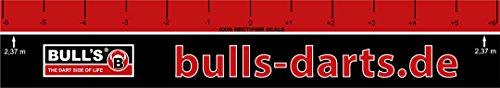 BULL'S Abwurflinie Pro, Rot/Schwarz, 60 x 10 cm
