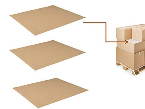 25 Fogli Intercalari 80x120 cm di Cartone Ondulato ideali per strati intermedi pallet, spessori interfalde mono onda TST222B