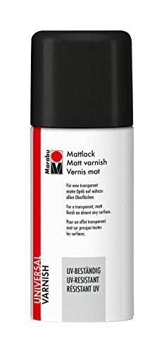Marabu 23111006850 - Mattlack, UV - beständiges Lackspray für matte Optik, für nahezu alle Oberflächen, styroporfest, lichtecht, schnell trocknend, wetterfest, 150 ml, transparent