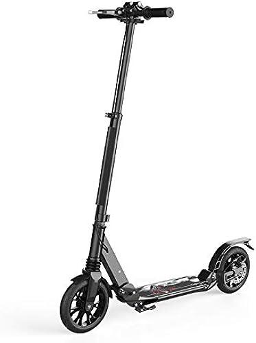 nuevo listado Scooter Adulto de Dos Dos Dos Ruedas Una Llave Plegable Doble Amortiguación Aleación de Aluminio Viaje Rueda Grande Scooter 10 años de Edad Niños Regalo de cumpleaños 100Kg,B  garantizado