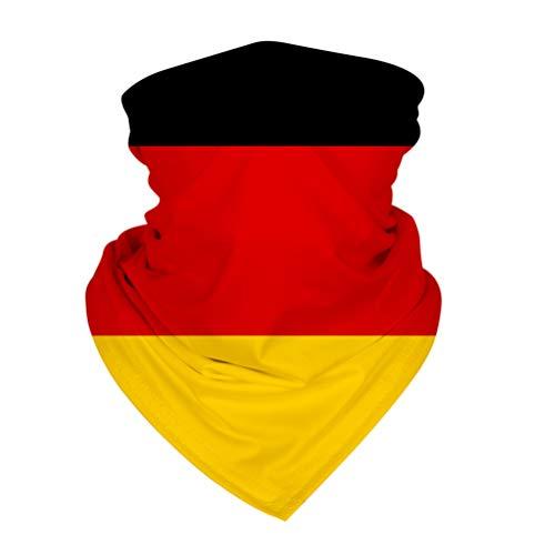 KESYOO Deutschland Flagge Bandana Fanschal Schlauchschal UV Staubschutz Schlauchtuch Halstuch Motorradschal für Outdoor Radfahren Laufen Sport Party Dekoration Gastgeschenke
