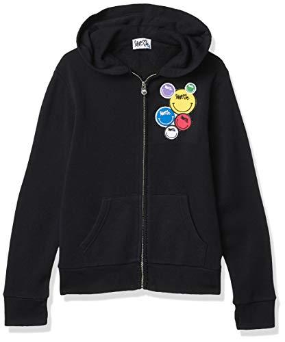 Butter Girls' Hooded Sweatshirt, Black, 4