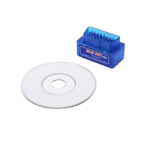 RoxTop Herramienta de diagnóstico automático de Interfaz Mini portátil de diagnóstico del Coche escáner Superior Azul ABS para ELM327 V2.1 OBD2 II