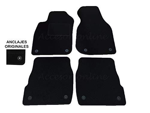 Accesorionline Alfombrillas para Audi A6 Todos los Modelos Avant Berlina A Medida - Talonera Alfombras esterillas C4 C5 C6 C7 C8 (A6 (2002-2004) C5 Restyling)
