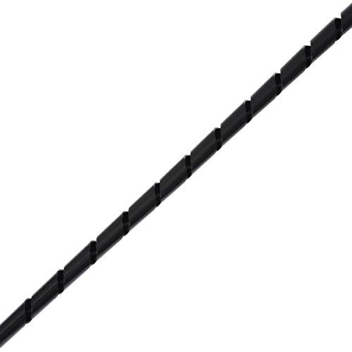 Helos Spiral-Kabelschlauch  ø  4 - 50 mm, 10 m schwarz  Kabelmanagement , zuschneidbar, zum Bündeln von Kabeln , flexibel einsetzbar