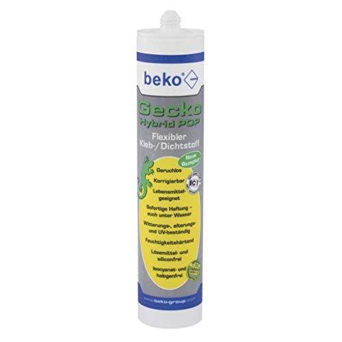Gecko Hybrid Pop 1-Komponenten Klebstoff weiß 310ml