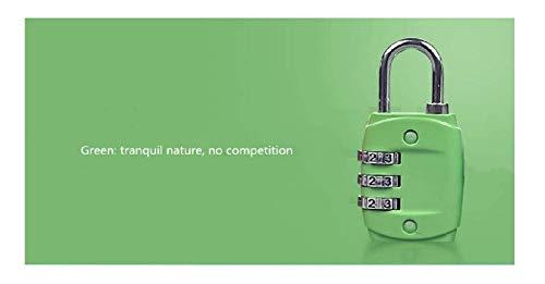 Gangkun Color Mini Digital Padlock Password Lock Luggage Lock Gym Luggage Suitcase Password Lock Mini Luggage Password Padlock Door Lock, Green