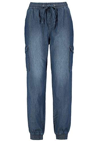 Sublevel Damen Cargo Jeans-Hose aus leichtem Denim Dark-Blue M