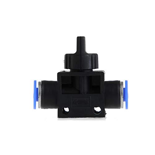 PE verschraubung, Pneumatische Luft 2-Wege-Schnellanschlüsse Druckanschlussrohrschlauch Kunststoff 4 mm 6 mm 8 mm