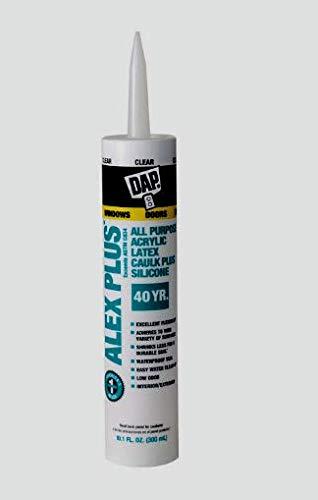 DAP ALEX PLUS Acrylic Latex CLEAR All Purpose CAULK + SILICONE 10.1 oz NEW 18156