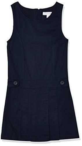 Amazon Essentials Big Girls' Uniform Jumper, Navy Blue, Medium Plus