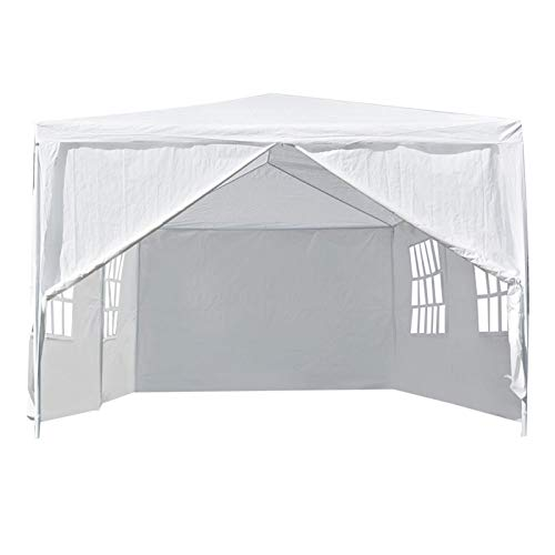 GAESHOW 3 x 6 m utomhus lusthus tak partytält uteplats slitstark bröllopstält vit lätt att montera