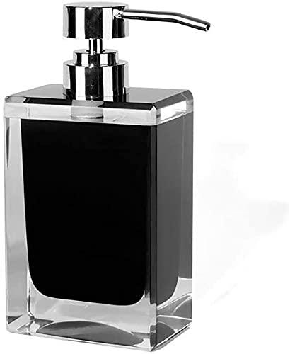 FGDFGDG Dispensador de jabón Cuadrado Resina Recargable Resina Negra Dispensador de jabón Negro 200ml Cocina Baño Hotel Bomba de baño Gel Gel Champú Loción Botella Manual Soap dispensador de jabón
