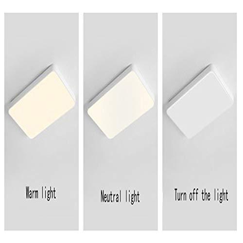 Luz de Techo, lámpara de Techo LED, lámpara de Pasillo Moderna Simple, lámpara de Sala de Estar de Dormitorio, lámpara de Techo de acrílico Redondo Blanco y negro-gold-40 * 40cm 27W 2-Color