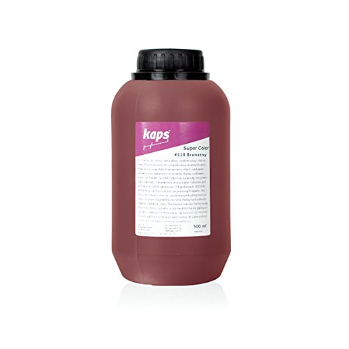 Lederfarbe für Naturleder, Sythetik und Textil. Entwickelt Super Color Kaps 500ml, Braun 110